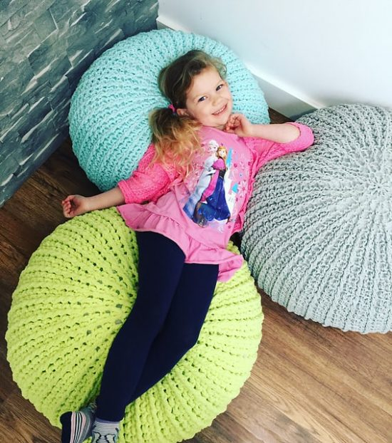 Surprising Crochet Floor Pouf And Ottoman Free Patterns The Whoot Squirreltailoven Fun Painted Chair Ideas Images Squirreltailovenorg