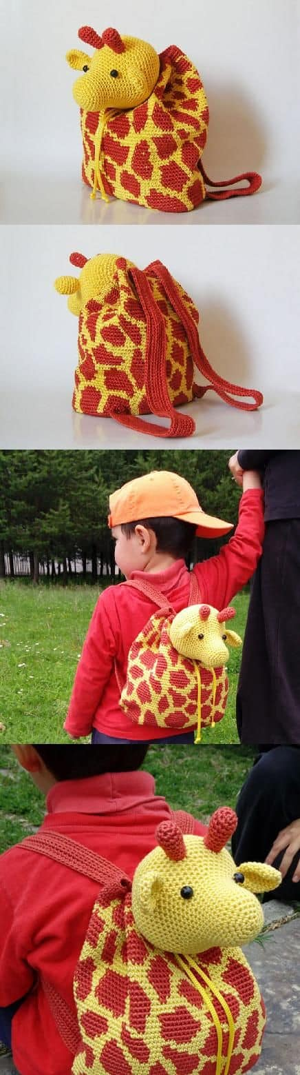Crochet Giraffe Backpack