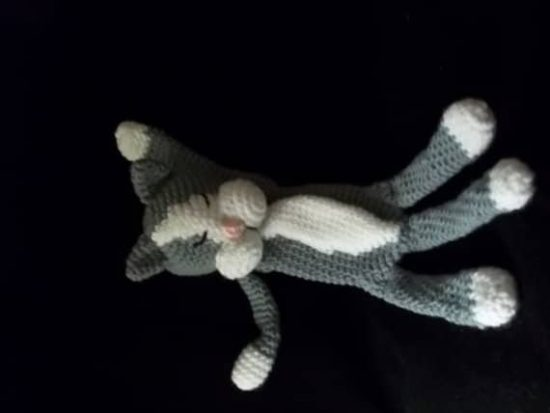 Crochet Laid Back Cat