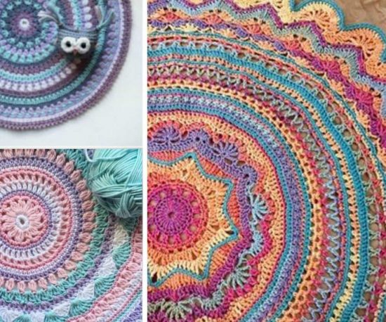 Crochet Mandala Rug Pattern Artistic DIY Ideas Video Tutorial Fascinating Free Crochet Mandala Pattern