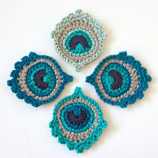 Crochet Peacock Feathers