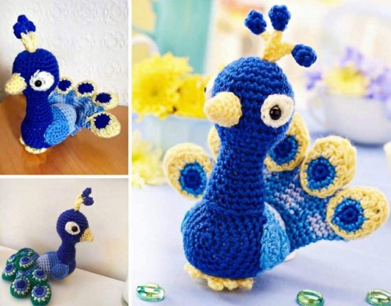 Crochet Peacock Free Pattern
