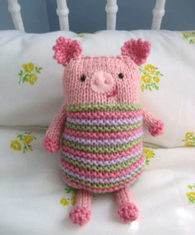 Crochet Pig Pillow Free Pattern