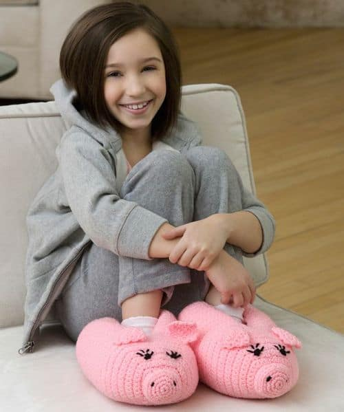 Crochet Pig Slippers Free Pattern