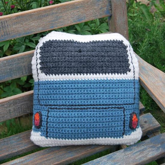 Crochet VW Kombi Cushion Cover Pattern