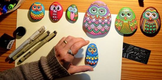 How To Paint Owl Rocks