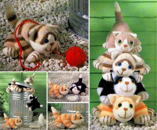 Knitted Cats Free Patterns