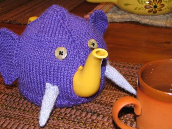 Knitted Elephant Tea Cozy Free Pattern