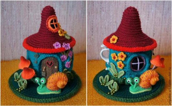 Knitted Fairy House Tea Cosy Free Pattern