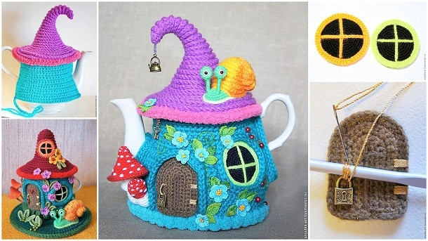 Knitted Fairy House Tea Cozy Free Pattern