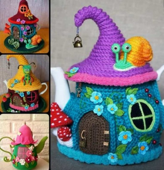 Knitted Teapot Cozy Free Pattern