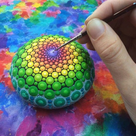 rock mandalas, make these to sell for big                     money