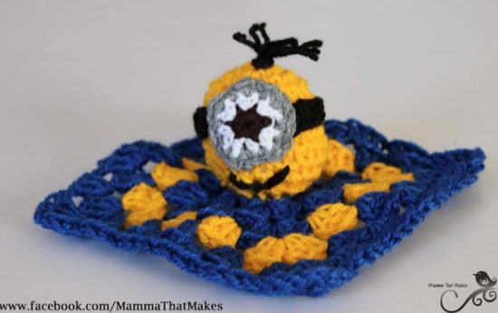 Minion Snuggy Blanket Free Crochet Pattern