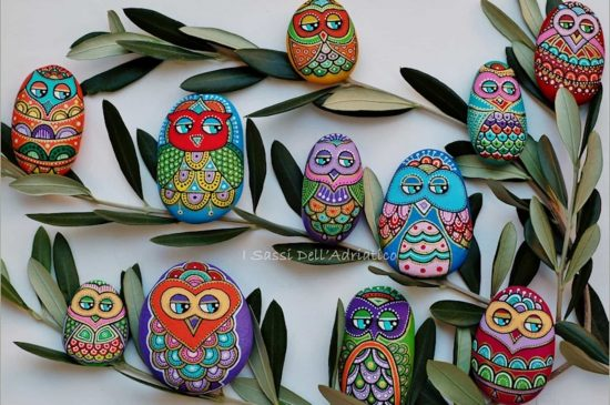 Owl Painted Pebbles
