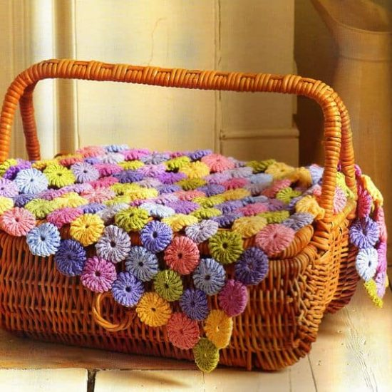 Crochet Puff Stitch Flower Blanket Free Pattern The Whoot