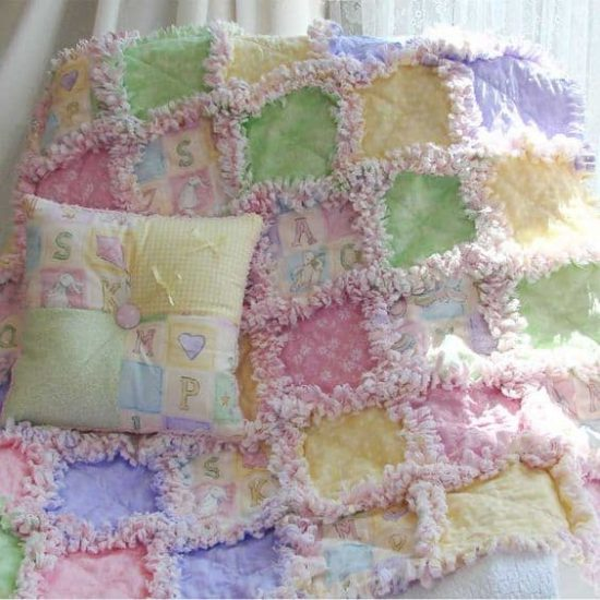How To Make A Quilt Out Of Baby Cloths