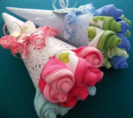Baby Socks Roses Bouquet