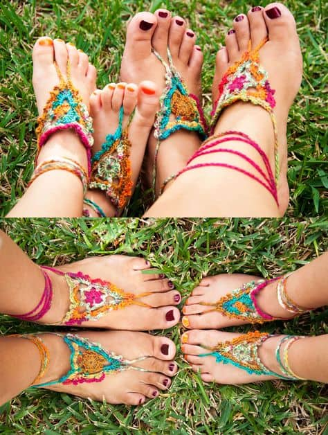 Crochet Barefoot Sandals The Cutest Collection The Whoot