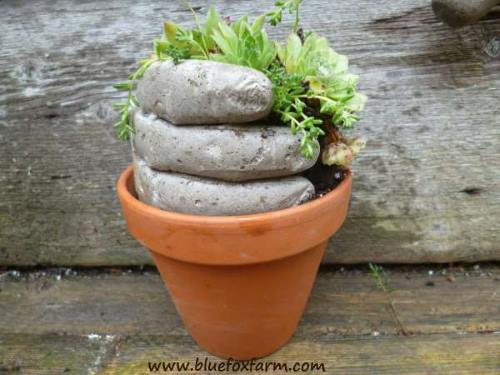 How To Make Cement Hand Planters