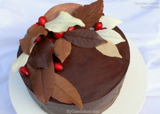 Choclolate Leaves Cake