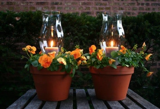 Clay Pot Candle Planter