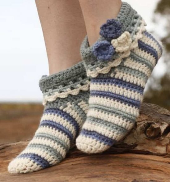 Our Favorite Crochet Slippers Collection The WHOot Unique Free Crochet Slipper Boots Patterns For Adults