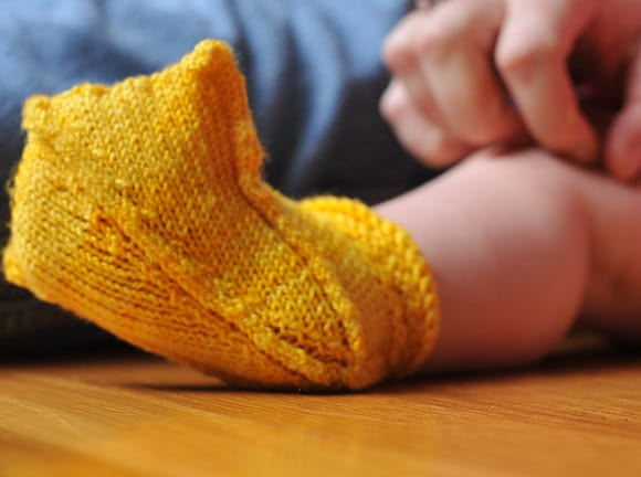 Duck Feet Baby Booties Knitting Pattern
