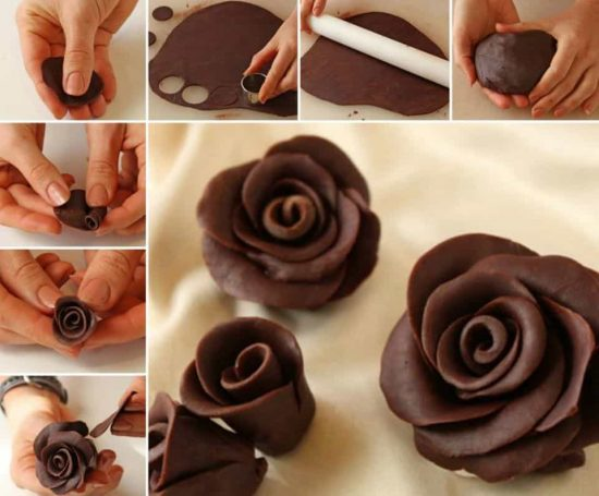 How To Make Gorgeous 3d Chocolate Rose Decorations The Whoot