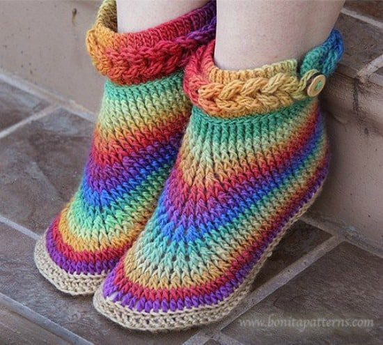 Knitting-look Crochet Boots Pattern