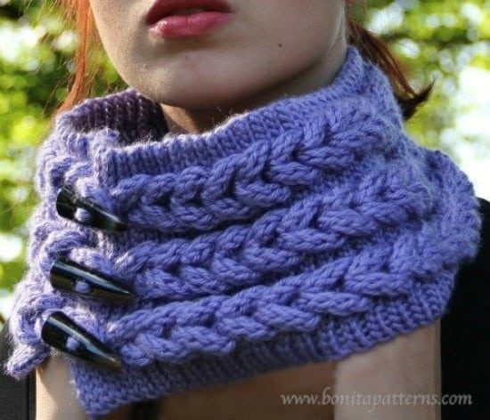 Knitting Look Braided Cowl