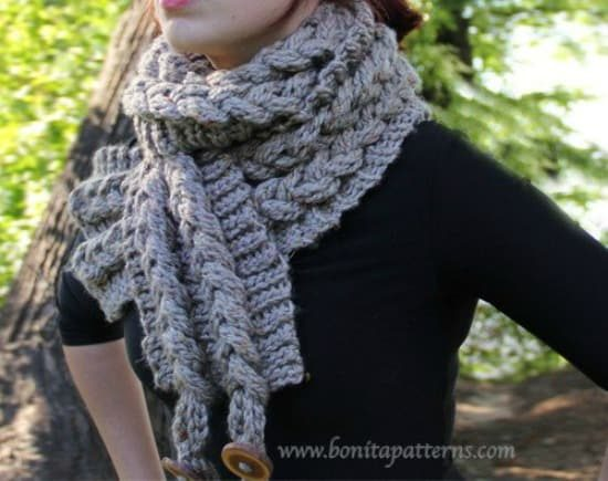 Knit-look Braid Scarf