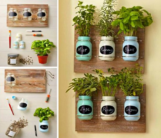 Diy Mason Jar Herb Garden Ideas The Whoot