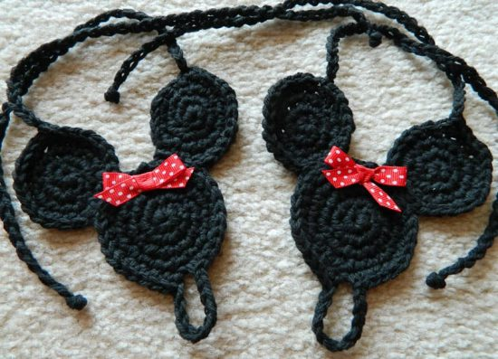 Minnie Mouse Crochet Barefoot Sandals
