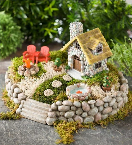 Stone fairy house how to make your own the whoot for Fairytale inspired home decor