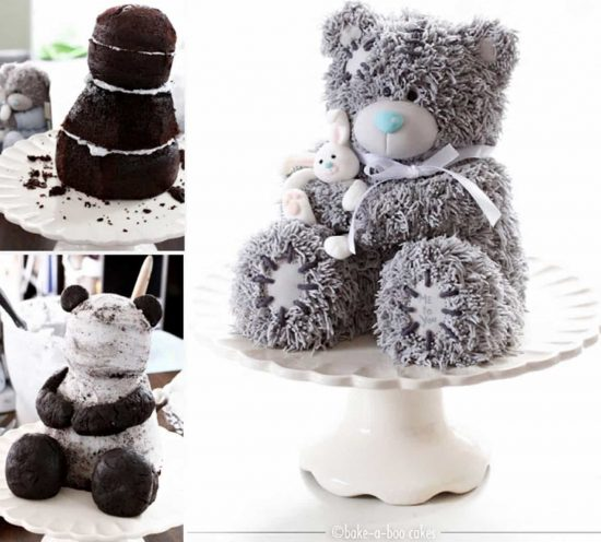 3D Teddy Bear Cake Easy Video Tutorial The WHOot