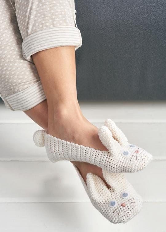 Bunny Crochet Slippers Free Pattern