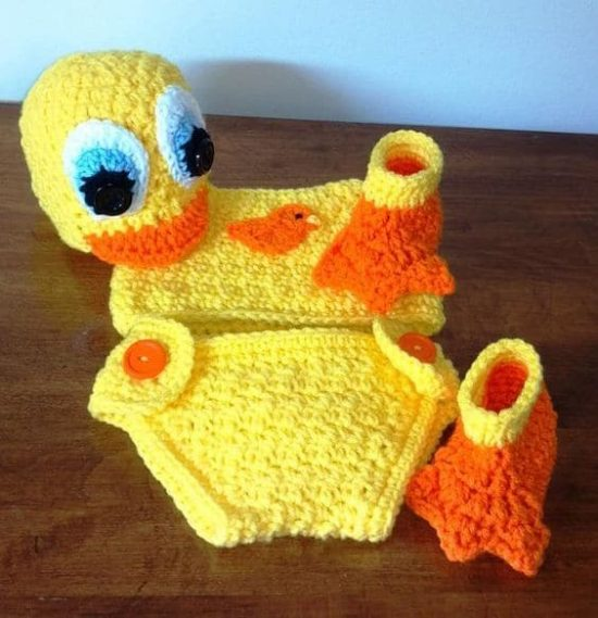 Crochet Duck Booties Pattern Perfect For Bubs The Whoot
