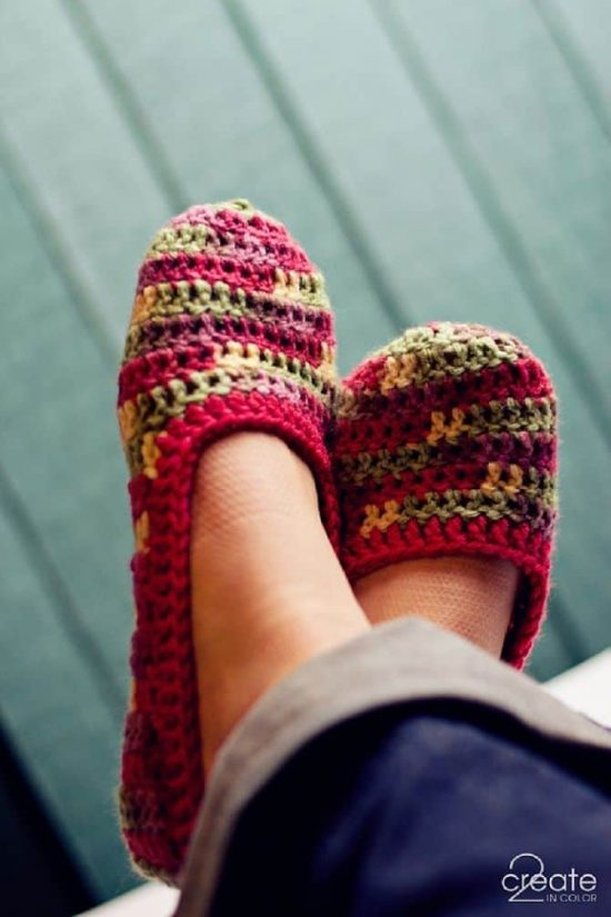 Crochet-Slippers-Free-Pattern-
