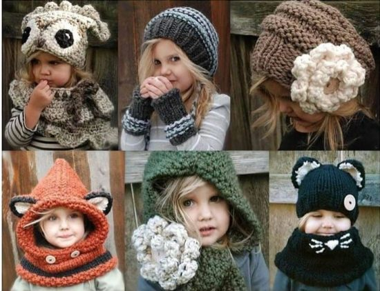 crochet and knitted cowls patterns