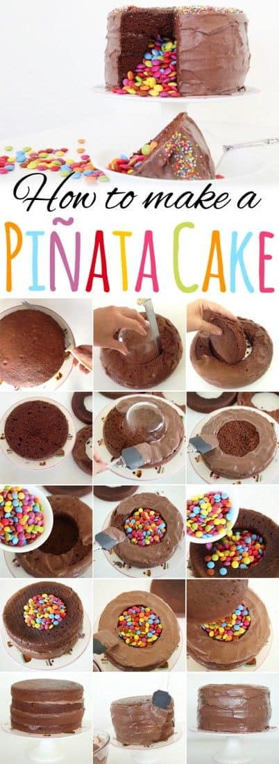 Pinata Cake Lots Of Ideas Easy Video Instructions