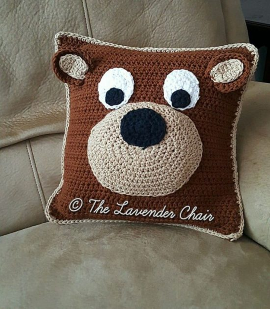 Teddy Bear Pillow Free Pattern