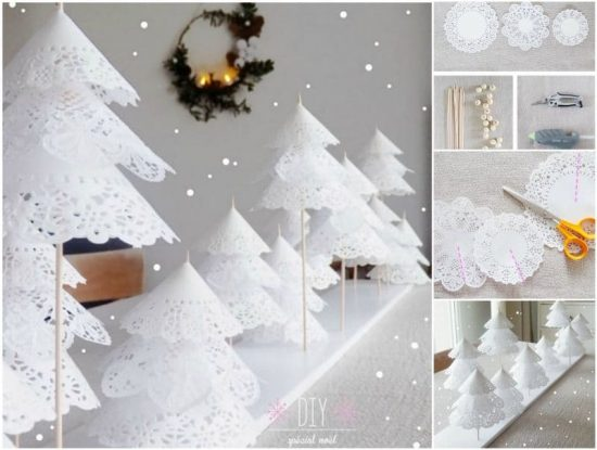 Best Diy Doily Paper Christmas Tree Tutorial