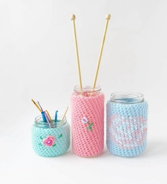 Crochet Floral Cozies Free Patterns