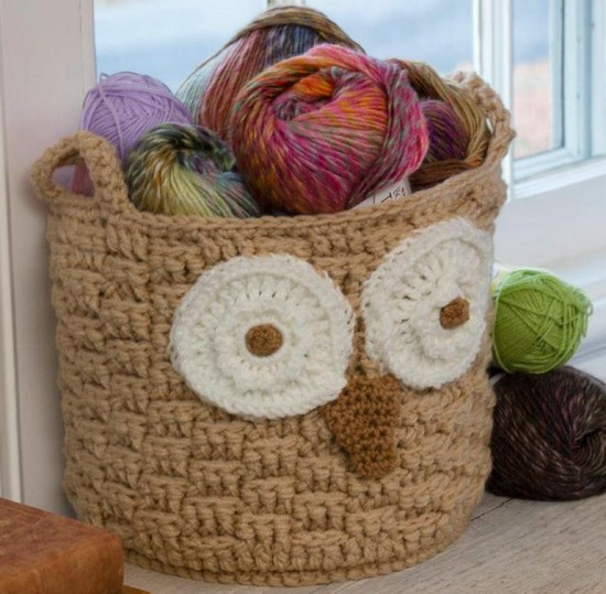 Diy Owl Basket Crochet Free Pattern Is Easy The Whoot