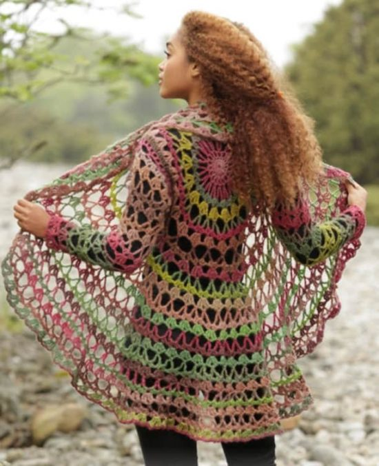 Crochet Circular Jacket Pattern Free Tutorial Great Ideas