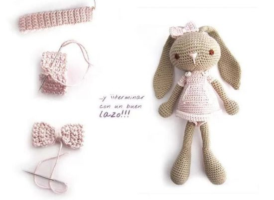 Crochet Long Eared Bunny Pattern