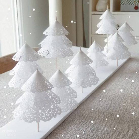 Diy Doily Paper Christmas Tree Tutorial