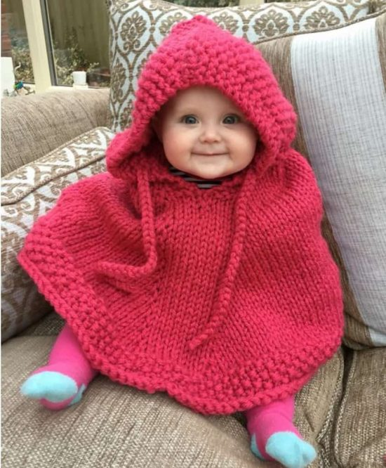 knitted-hooded-baby-poncho-pattern