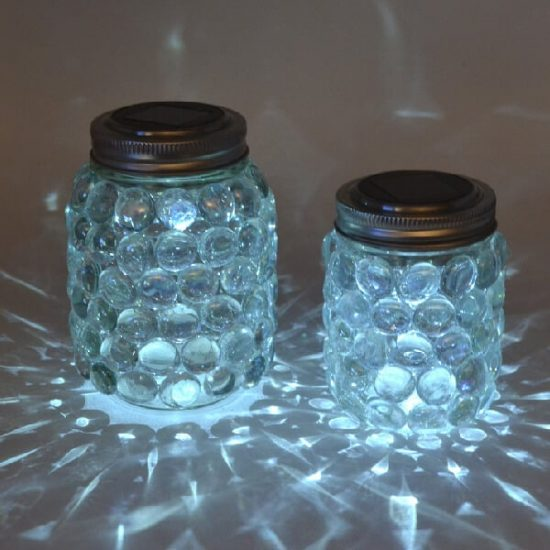 Learn How To Make Easy Glass Gem Luminaries