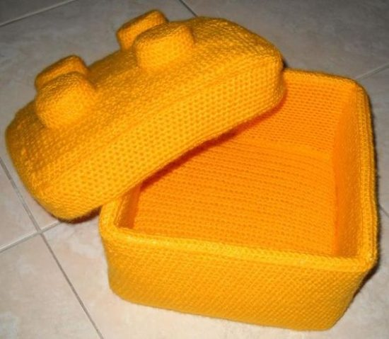 Lego Crochet Box Free Pattern